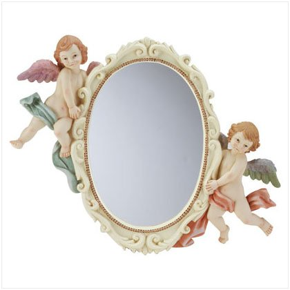 Cherub Oval Wall Mirror