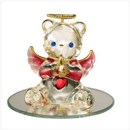 Glass Birthstone Teddy - February