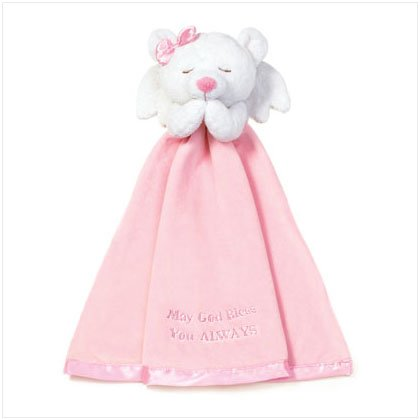 Girls Angel Bear Security Blanket