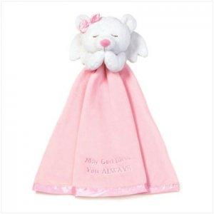 Girls Angel Bear Security Blanket