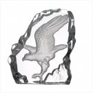 Cut Glass Block Eagle Paperweight