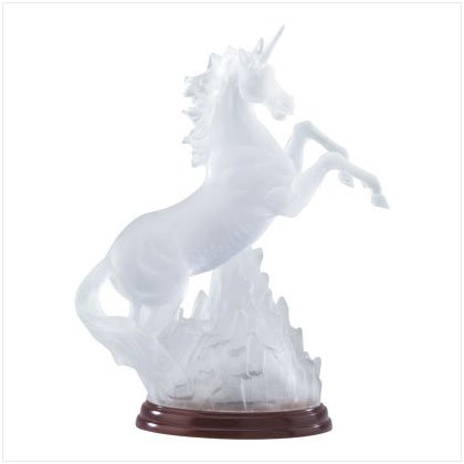 Frosted Glass Unicorn Light
