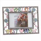 "Colorful  Pewter ""Worlds Best Mom"" Photo Frame"