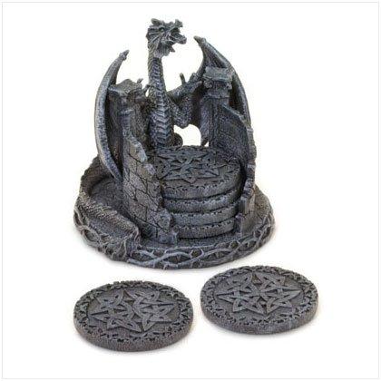 Dragon Coaster Set With Holder