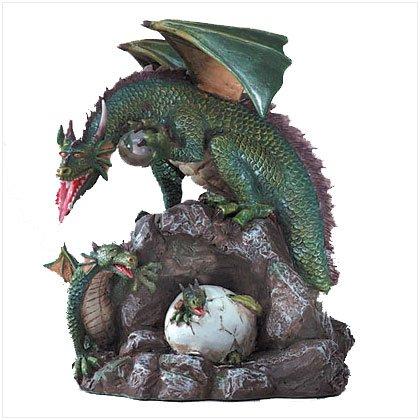 Mother Dragon & Children Figurine