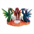 See, Hear, Speak No Evil Dragon Candleholder