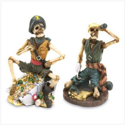 Skeletal Pirate Figurines