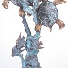 Turtles On Coral Sculpture