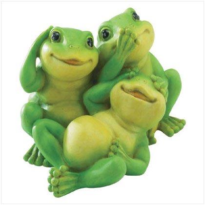 Playful See, Hear, Speak No Evil Frogs Figurine