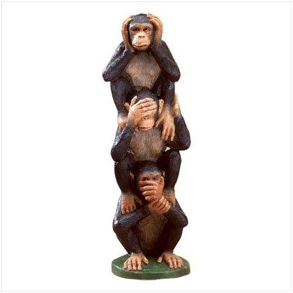 See, Hear, Speak No Evil Monkey Totem Pole