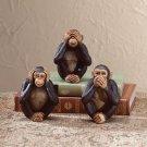 See, Hear, Speak No Evil Monkey Figurines - Set Of 3