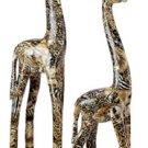 Patchwork Standing Giraffe Pair