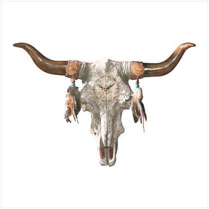 Bull's Skull Wall Clock