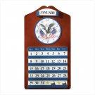 American Eagle Clock & Calendar