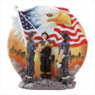 Fireman Raising Flag Plate