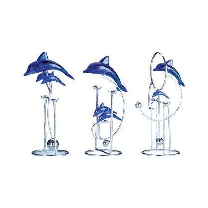Swinging Dolphin Sculptures- Set of 3