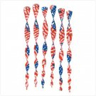 American Flag Patriotic Twirlers - Pack of 6