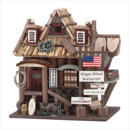 """Wagon Wheel Restaurant"" Birdhouse"