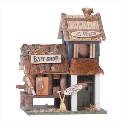 """Bass Lake Lodge""  Birdhouse"