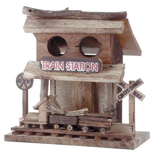 """Train Station"" Birdhouse"