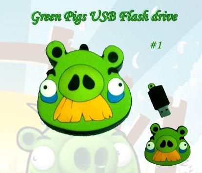 Green pig #1 USB Flash drive