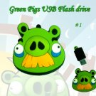 Green pig #1 USB Flash drive
