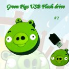 Green pig #2 USB Flash Drive