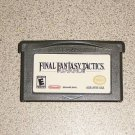 FINAL FANTASY TACTICS GBA NINTENDO GAMEBOY ADVANCE SAVE