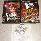 GUITAR HERO 1 2 AEROSMITH PS2 100% COMPLETE 3 GAMES