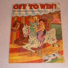 OFF TO WIN PAINT BRUSH COLOR SC 1944 WAR RARE BOOK