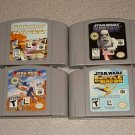 STAR WARS BATTLE NABOO ROGUE 4 GAMES N64 NINTENDO 64