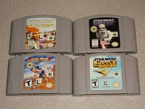 STAR WARS BATTLE NABOO ROGUE 4 GAMES N64 NINTENDO 64