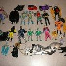 HUGE BATMAN TOY FIGURE COLLECTION ACCESSORIES DC COMICS