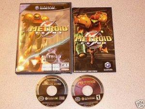 METROID PRIME GAMECUBE 100% PLAYS WII 2 DISC SET