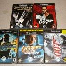 007 JAMES BOND ALL 5 GAMES NINTENDO GAMECUBE COLLECTION