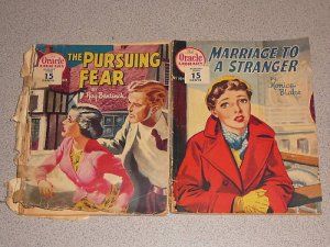 ORACLE LIBRARY #163 & #164 1956 2 BOOKS STRANGER FEAR