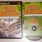 PUZZLE CHALLENGE CROSSWORDS MORE PS2 PLAYSTATION 2 100%