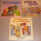MUPPETS PIGS SPACE GONZO CHIKCEN BO SHOW 3 BOOK SET