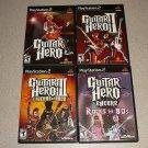GUITAR HERO 1 2 3 80s AEROSMITH ENCORE PS2 100% 5 GAMES