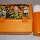 THE MUPPET SHOW ORANGE THERMOS LUNCH BOX KIT VINTAGE