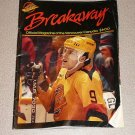 BREAKAWAY OFFICAL CANUCKS MAGAZINE VANCOUVER WINGS 1989