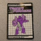 TRIGGERHAPPY INSTRUCTION BOOKLET MANUAL G1 TRANSFORMERS