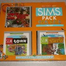 SIMS PACK FOR KIDS NEW PC CD TOWN THEME PARK 3 GAMES XP