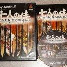SEVEN SAMURAI 20XX PS2 100% COMPLETE PLAYSTATION 2