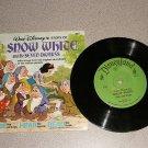 SNOW WHITE SEVEN DWARFS VERY NICE 1/3 RPM RECORD BOOK