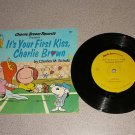 PEANUTS HE'S YOUR DOG & FIRST KISS CHARLIE RECORD BOOK