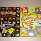 THE OFFICIAL POKEMON COLLECTOR STICKER BOOK 1 & 2 SET