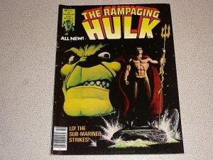 RAMPAGING HULK #5 MARVEL MAGAZINE COMIC SUB MARINER