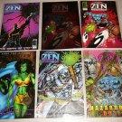 ZEN INTERGALACTIC NINJA COMICS COMPLETE SET 37 ISSUES