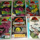 JURASSIC PARK COMICS 8 ISSUES TOPPS RAPTOR ANNUAL